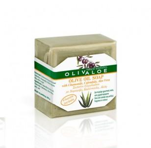 Tradiční Olivové mýdlo s Aloe Vera, měsíčkem a heřmánkem 200 g