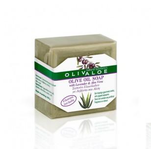 Tradiční Olivové mýdlo s Aloe Vera a levandulí 200 g