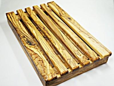 Podložka na krájení pečiva z olivového dřeva
