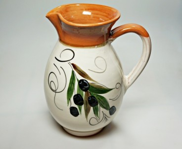 Krétská užitková keramika Džbán - výška 19 cm