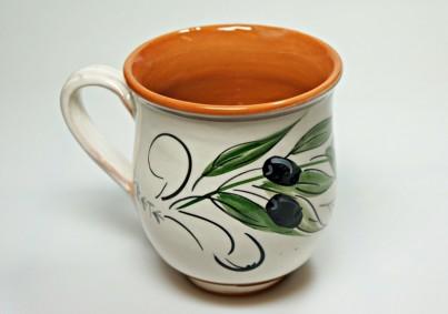 Krétská užitková keramika Hrnek - výška 9 cm