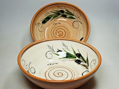 Krétská užitková keramika Miska velká - průměr 20 cm