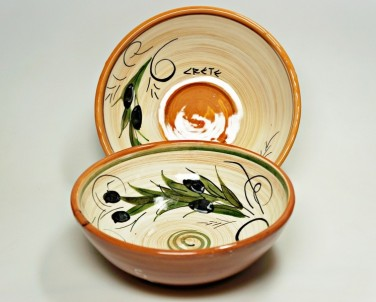 Krétská užitková keramika Miska střední - průměr 16 cm