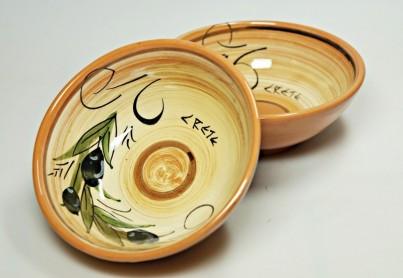 Krétská užitková keramika Miska malá - průměr 12 cm