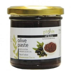 100% přírodní olivová pasta z černých oliv kalamata 135g