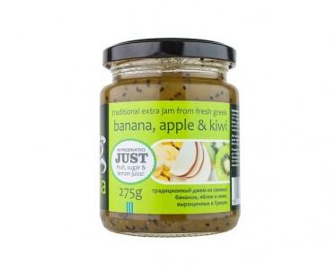 Džem z banánů, jablek a kiwi