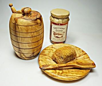 Talíř dezertní 13 cm z olivového dřeva 1