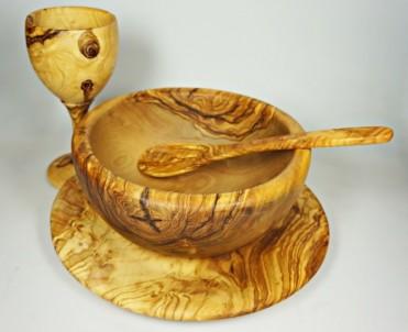Polévková lžíce z olivového dřeva 20 cm 1