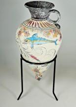 Mínojská keramika - Amfora se špičatým dnem - výška 21 cm