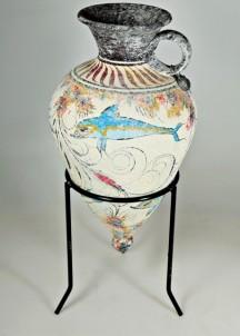 Mínojská keramika - Amfora se špičatým dnem - výška 21 cm 1