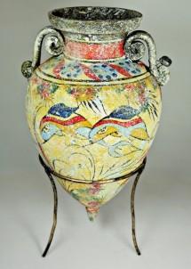 Mínojská keramika - Amfora se špičatým dnem - výška 24 cm