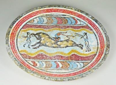Mínojská keramika - Kamárská keramika talíř - průměr 19 cm 1