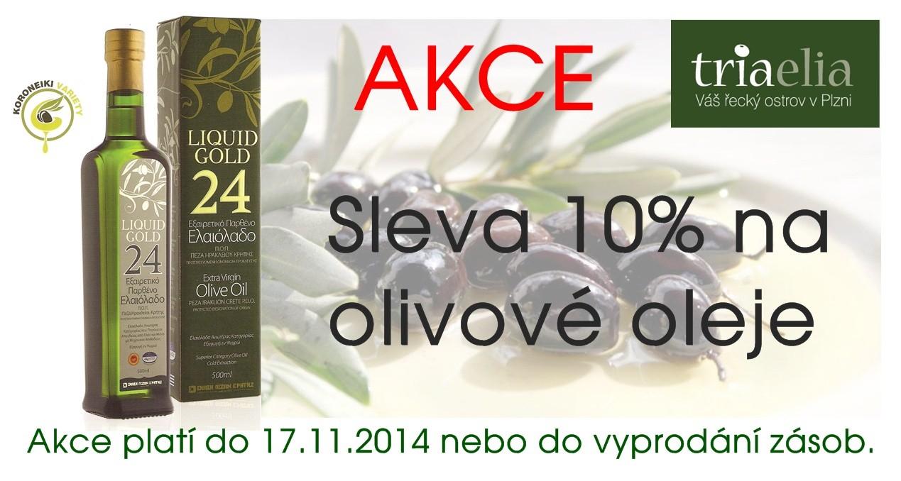 olivové extra panenské olivové oleje SLEVA 10%