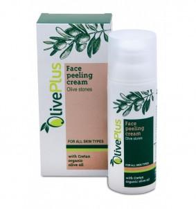 Peelingový krém na obličej s olivovými peckami - 50 ml OlivePlus