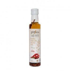 Extra panenský olivový olej Physis of Crete Chilli 0,25l sklo
