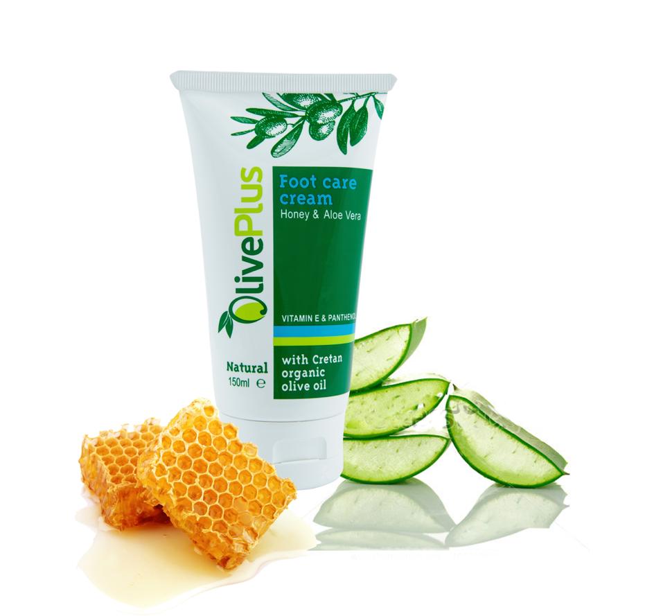 OlivePlus ® | Krém na nohy s medem a aloe vera 150 ml