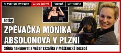 Monika Absolonova v Plzni v triaelia vice na QAP.cz