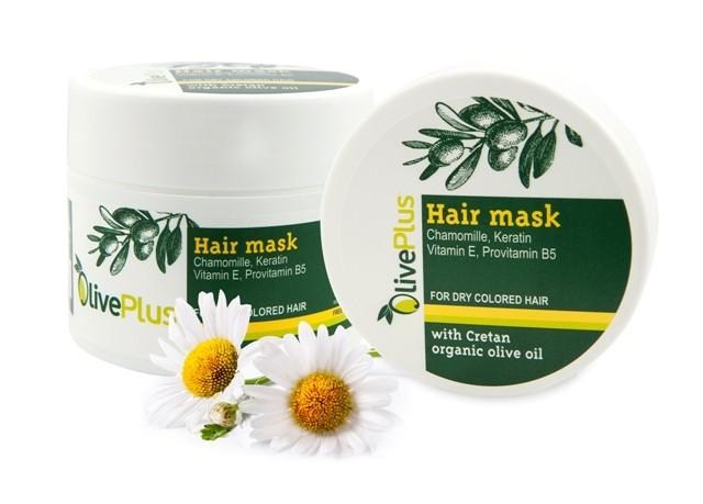 OlivePlus ® | Vlasová maska s BIO olivovým olejem suché a barvené vlasy 200 ml