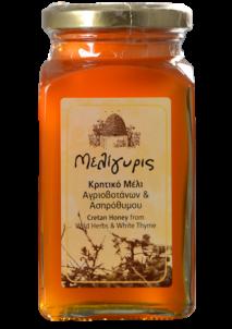 Krétský med divoce rostoucí byliny a bílý tymián 450g Meligyris