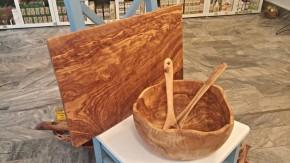 Prkénko na krájení z olivového dřeva 60cm x 38cm
