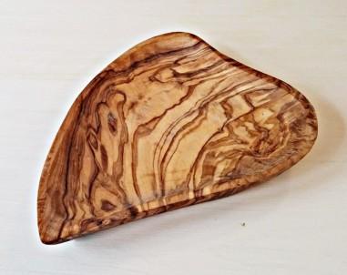 Miska z olivového dřeva ve tvaru srdce