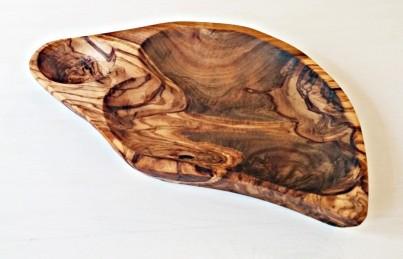 Dvou miska z olivového dřeva ve tvaru srdce MINI