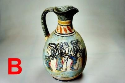 Mínojská keramika - velká - výška 16cm B