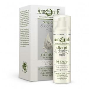 Oční krém proti vráskám  olivový olej a oslí mléko Aphrodite