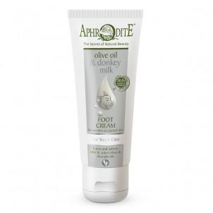 Krém na nohy na citlivou a popraskanou pokožku  olivový olej a oslí mléko Aphrodite
