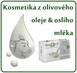 Kosmetika z olivového oleje & oslího mléka