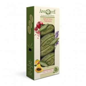 Dárková sada 100% přírodních olivových mýdel Povznášející vůně 255gr