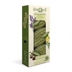 Dárková sada 100% přírodních olivových mýdel Bylinné esence 255gr