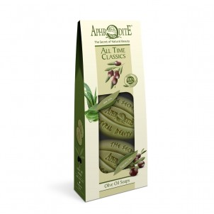 Dárková sada 100% přírodních olivových mýdel Klasik 170gr