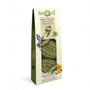 Dárková sada 100% přírodních olivových mýdel Relaxační 170gr