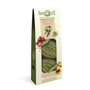 Dárková sada 100% přírodních olivových mýdel Povznášející vůně 170gr
