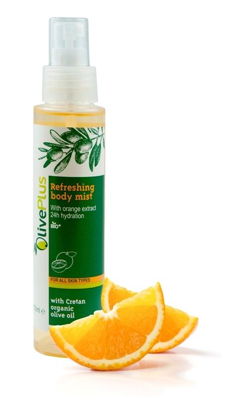 OlivePlus ® | Tělový spray Osvěžující Pomeranč s BIO olivovým olejem 100 ml