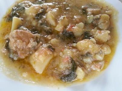 Řecké brambory jachni - Patates jachni