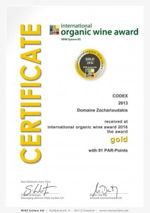 KODIX 2013 Gold International «BIOWEINPREIS» BIOvína Mnichov