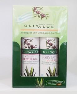 Dárková sada Sprchový gel Classic Tělové mléko Q3 & Q6 OlivAloe ® Natural cosmetics