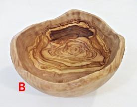 Rustikální salátová mísa z olivového dřeva  24 cm