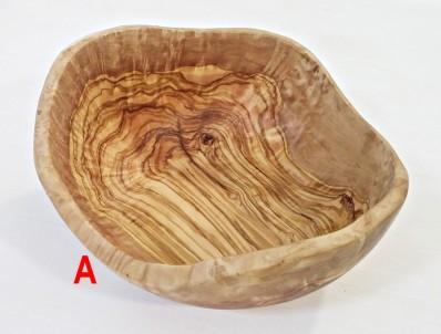 Rustikální salátová mísa z olivového dřeva 26 cm