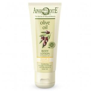 Přírodní olivové tělové mléko Aphrodite ® Olivový olej & Avokádo & Heřmánek & Makadamiový olej & Kukui olej