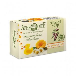 Olivové mýdlo s heřmánkem a měsíčkem 100 g