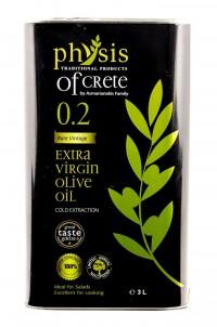 Extra panenský olivový olej Physis of Crete Acidita 0,2 plech 3L