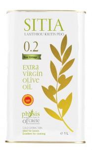 Olivový olej SITIA P.D.O. Acidita 0,2 plech 1L