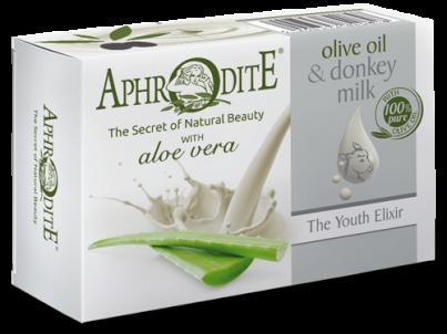 Přírodní mýdlo olivový olej & oslí mléko  & aloe vera 85g