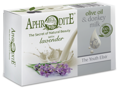 Přírodní mýdlo olivový olej & oslí mléko  & Levandule 85g