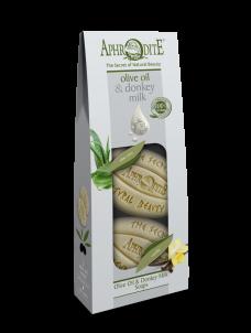 Sada mýdel olivový olej & oslí mléko Aloe Vera & Vanilka 170gr