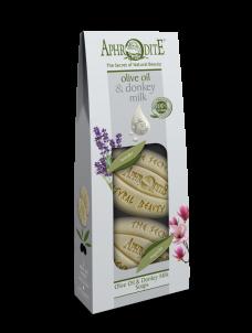 Sada mýdel olivový olej & oslí mléko Levandule & Magnolie 170gr