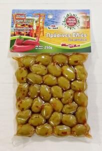 Řecké olivy zelené ostré 250 g